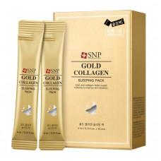 Интенсивная ночная маска с золотом и коллагеном / SNP GOLD COLLAGEN SLEEPING PACK 4ml*20ea