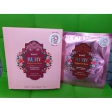 Гидрогелевая маска с рубиновой пудрой и розовым маслом 5шт / Koelf Ruby & Bulgarian Rose Mask pack 5ea