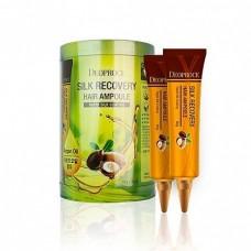 Восстанавливающие ампулы для волос / Deoproce Silk Recovery Hair Ampoule 10g*10ea