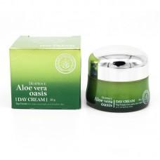 Дневной многофункциональный крем с алоэ вера / Deoproce Aloe Vera Oasis Day Cream 50ml