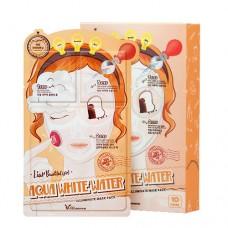 3-шаговая маска для лица увлажняющая / AQUA WHITE WATER  ILLUMINATE  MASK PACK*10ea