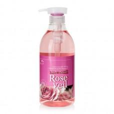 COSMOCOS Verywell Body Shower Rose Veil 500ml / Гель для душа с экстрактом розы