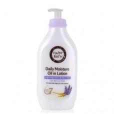 HAPPY BATH Daily Moisture Oil In Lotion (Lavender) 450ml / Лосьон для тела с экстрактом лаванды