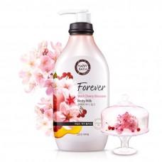 HAPPY BATH Forever Wild Cherry Blossom Body Milk 450ml / Молочка для тела с экстрактом цветов сакуры