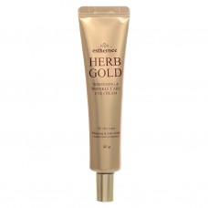 Deoproce Estheroce Herb Gold Whitening Wrinkle Eye Cream 40g / Антивозрастной крем для глаз на основе розовой воды с золотом