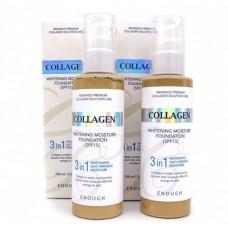 Тональная основа с коллагеном 3 в 1 SPF 15 #13 / Enough collagen whitening moisture foundation 3 in 1