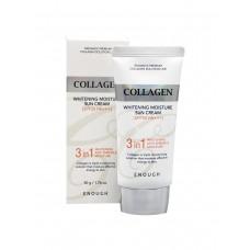 Осветляющий увлажняющий солнцезащитный крем с коллагеном / Enough Collagen Whitening Sun Cream