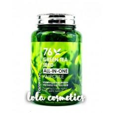 Многофункциональная ампульная сыворотка с экстрактом семян зеленого чая / [FARMSTAY] ALL-IN-ONE GREEN TEA AMPOULE