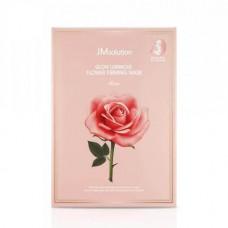 JMsolution Glow Luminous Flower Firming Mask 10pcs / Тканевая маска с экстрактом дамасской розы