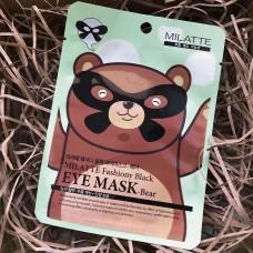 Маска для кожи вокруг глаз - Медведь 10шт/ Fashiony Black eye mask - Bear