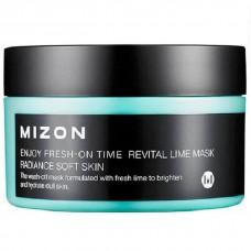 MIZON Enjoy Fresh-On Time Revital Lime Mask 100ml / Увлажняющая маска с экстрактом лайма