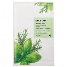 MIZON Joyful Time Essence Mask - Herb / Тканевая маска для лица с комплексом травяных экстрактов