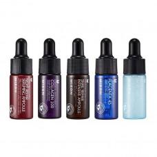 MIZON Ampoule Miniature Set (Collagen, Snail, Placenta 45, Night repairing, Hyaluronic) / Набор из 5 сывороток-миниатюр