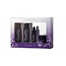 MIZON Collagen Miniature Set (Emulsion, Toner, Ampoule, Cream) / Набор миниатюр по уходу за лицом ( Эмульсия, Тонер, Сыворотка, Крем)