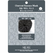 Маска тканевая с древесным углем  1шт/ MJ Care Charcoal Essence Mask