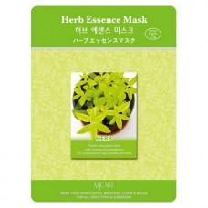 Маска тканевая с лечебными травами  1шт/ MJ Care Herb Essence Mask