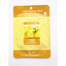 Маска тканевая с экстрактом лимона  1шт/ MJ Care Lemon Essence Mask