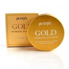 Гидрогелевые патчи для глаз с содержанием частиц 24-каратного золота / Petitfee GOLD Hydrogel Eye Patch