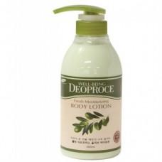 Well-Being Deoproce Fresh Moisturizing Olive Body Lotion Olive 500ml / Лосьон для тела на основе оливкового масла