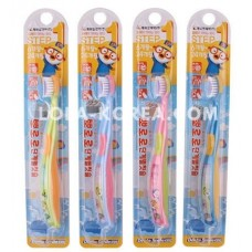 Детская зубная щетка PORORO Children's toothbrush step 1 (yellow, blue, yeondu, pink) 1ea
