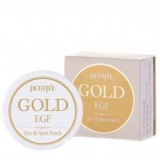 Гидрогелевые патчи для глаз с золотыми частицами и фактором роста EGF / Petitfee Gold & EGF Eye•Spot Patch